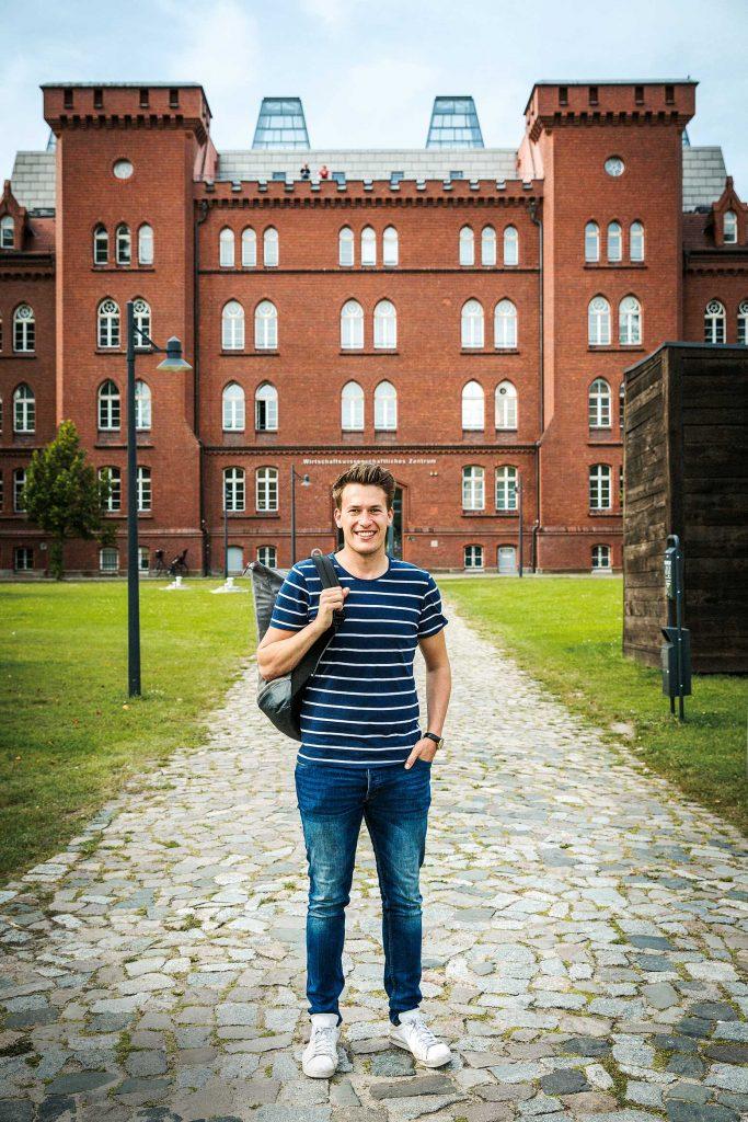 Leonard Groß, Deutschlandstipendiat und MBS-Praktikant, Technische Hochschule Brandenburg