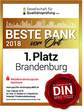 """MBS erneut """"Beste Bank"""" in der Region"""