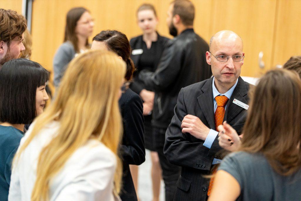 Vertreter der MBS in der offenen Gesprächsrunde mit den Deutschlandstipendiaten