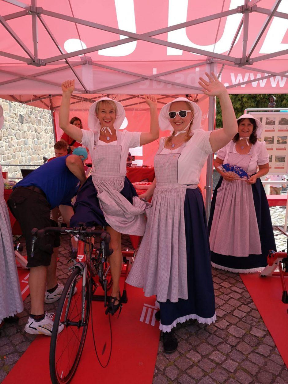 Rot und Blau Weiß – MBS-Fahrradtag auf dem Beelitzer Spargelfest