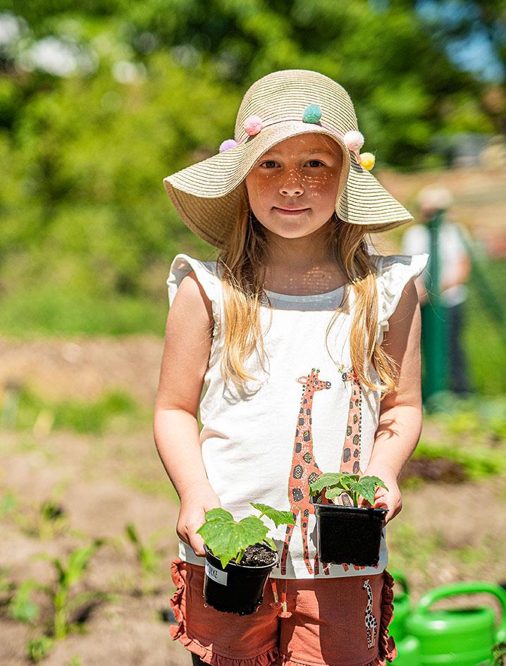 30 verschiedene Gemüsearten innerhalb eines Jahres bauen Kinder an.